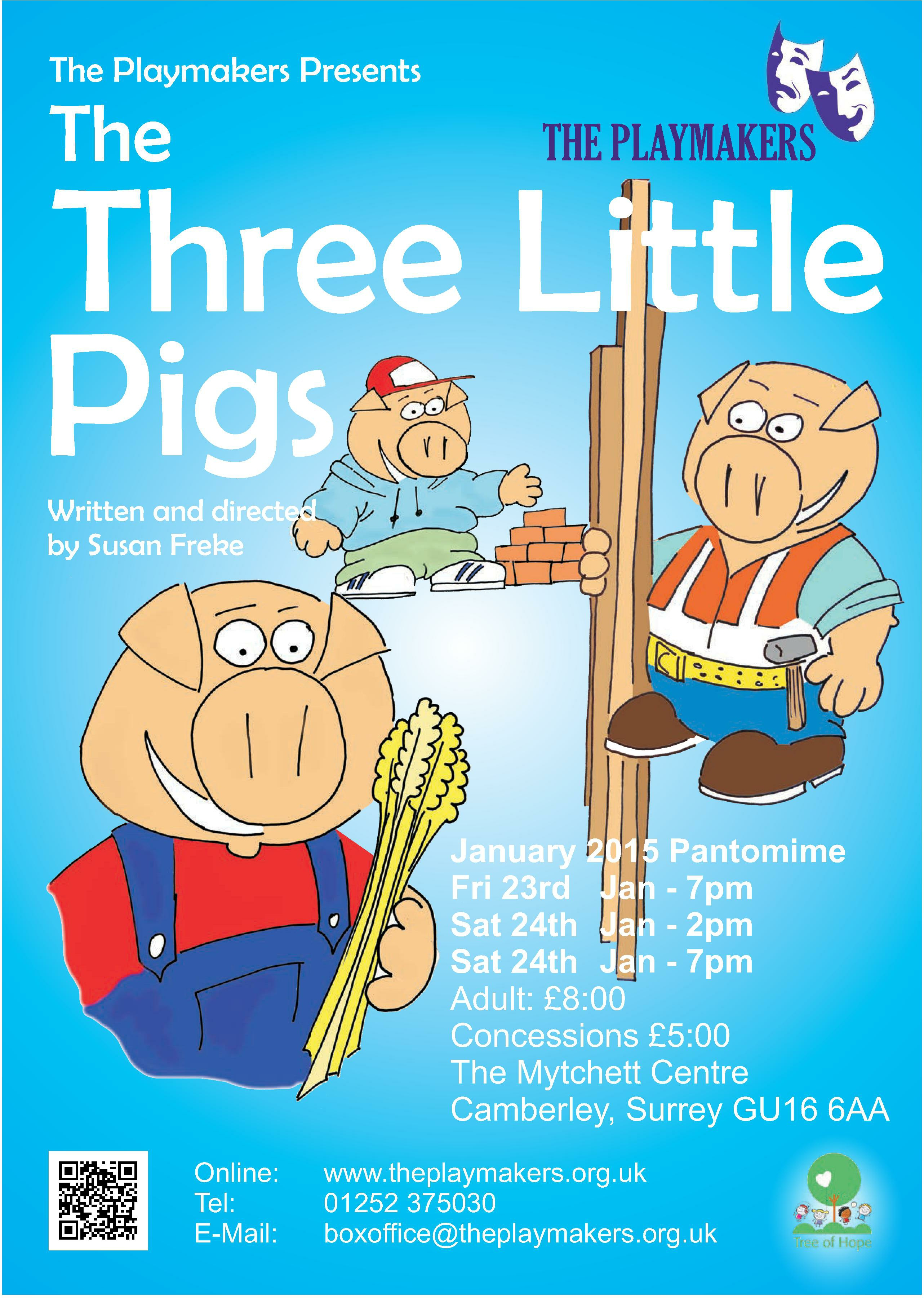 Three Little Pigs Poster